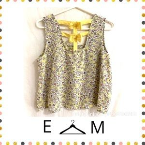E hanger M Bows Crop Top Medium Anthropologie